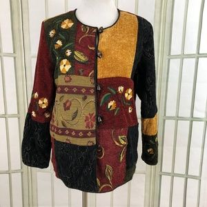 Tapestry Embroidered Patchwork Motif Jacket